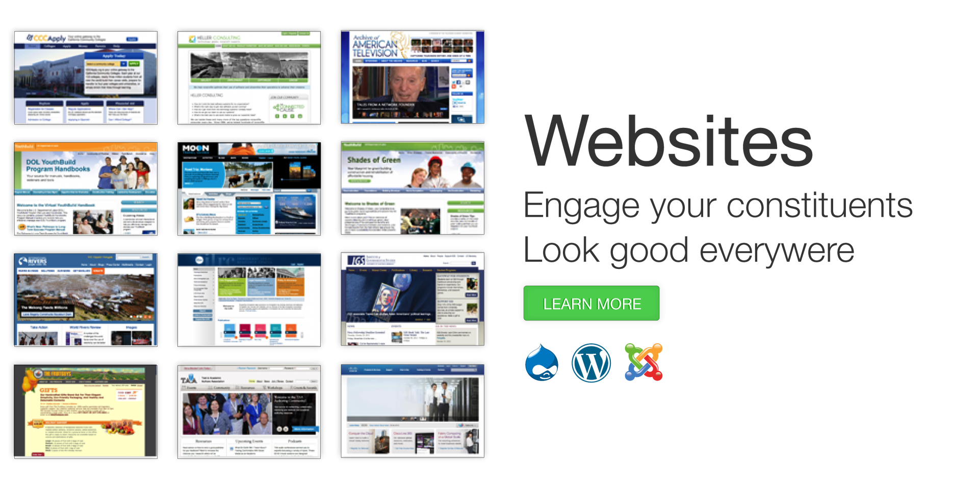 Websites - Engage your constituents - Look good everywhere