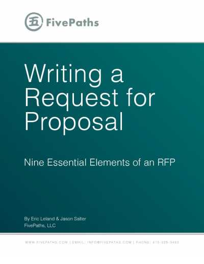 Writing A Request For Proposal | Fivepaths, Llc